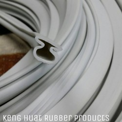 Rubber Extrusion in White